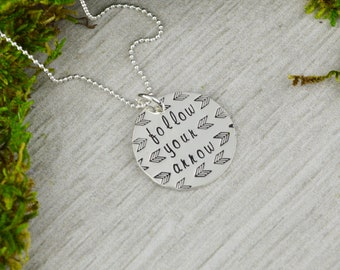 Follow Your Arrow Necklace in Sterling Silver - Inspirational Jewelry
