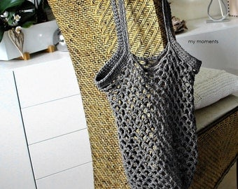 Shopping Bag gray Cotton