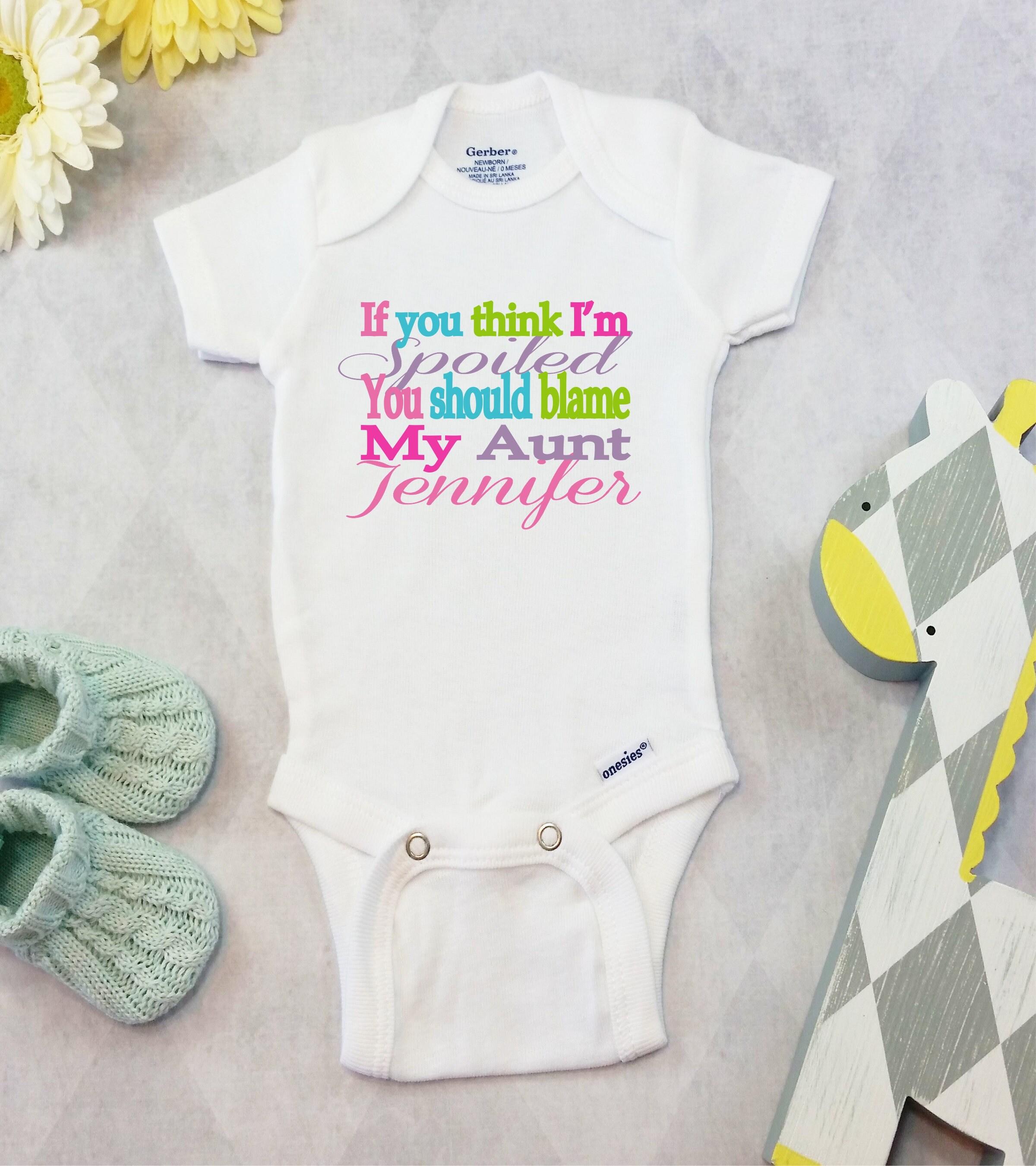 Personalized Aunt esies Brand Bodysuit Aunt Shirt Funny Uni