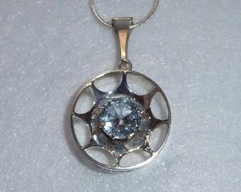 Pendant. Kultaseppä Salovaara (Finland). Silver and Cristal. Vintage.