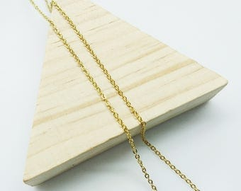 2 yards, Brass Chain, 1.6mm flat cable chain, golden color