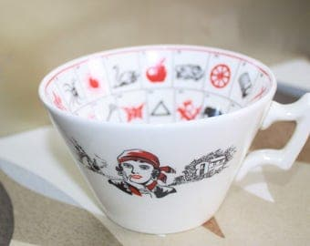 Romany Fortune Telling Cup c1920s. Antique Collectable.
