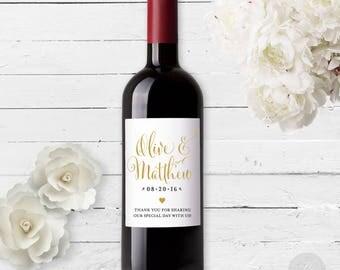 Wine Bottle Label #1 - Custom - Personalized - Wedding Wine Bottle Sticker