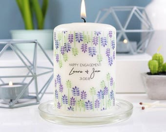 Engagement Candle Gift - She Said Yes Gift - Engagement Candle - Wedding Candle - Engagement Party Gift - Congratulations candle