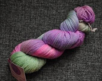 Wonderland lace yarn handdyed skein silk merino