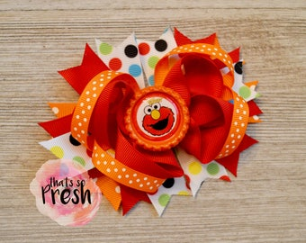 Sesame Street Hair Bow, Elmo Hair Bow, Cookie Monster, Big Bird, Sesame Street Birthday, Elmo Party, Sesame Street Party, Elmo Birthday