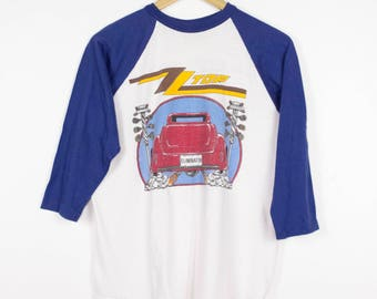 1983 ZZ TOP ELIMINATOR raglan tour shirt - vintage 80s