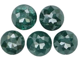 1.12 Ct Natural Loose Diamond Round Rose Cut Blue Color 5 Pcs L9018