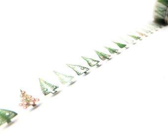 New Arrival Washi Tape - Natural Christmas Trees- no.759 // 15mm x 10m