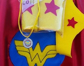 4 Piece Wonder Woman Cape and Mask Set