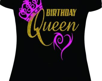 Birthday Queen T-shirt, Birthday Shirt, Queen Shirt, Birthday, birthday shirt women