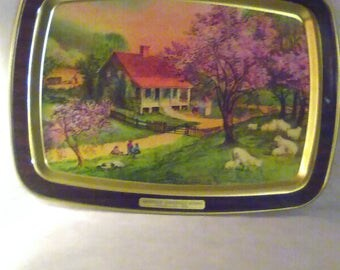 Courier & Ives Antiques American Homestead Tray - Spring