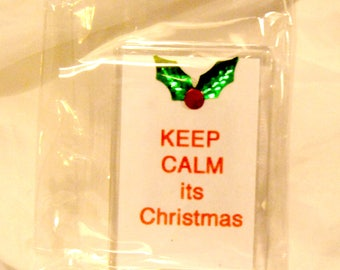 Keep calm its christmas fridge magnet