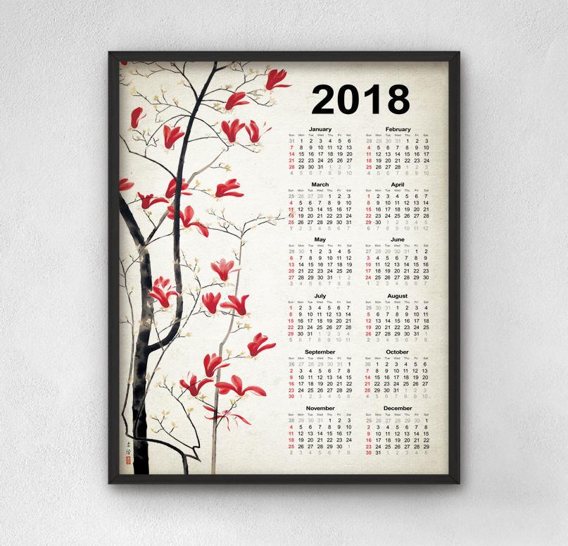 calendrier 2018 vintage