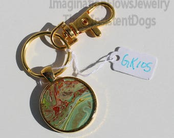 Handmade Jewelry, Acrylic Flow, Inexpensive,  Each Keychain Unique