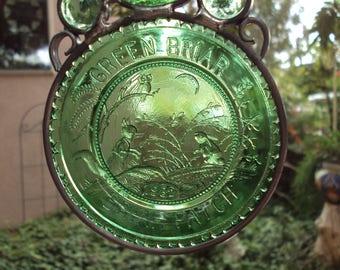 Green Briar Patch Pairpoint Suncatcher