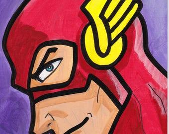 "Flash painting acrylic 9"" x 6"""