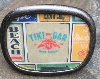 belt buckle mens belt buckle women's belt buckle mens resin belt buckle nautical jewelry beach accessories tiki bar Lavish Lucy Designs