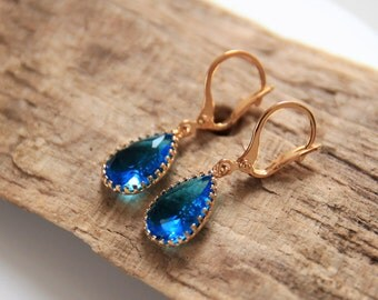 Earrings | Gold | Blue