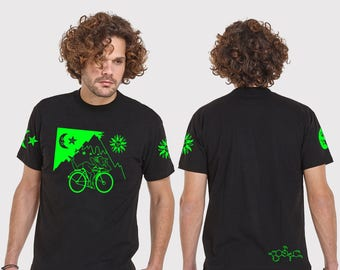HOFMANN  mens tshirt  - psy clothing - festival- blacklight active-Festival Wear-Burning man-psychedelic clothing