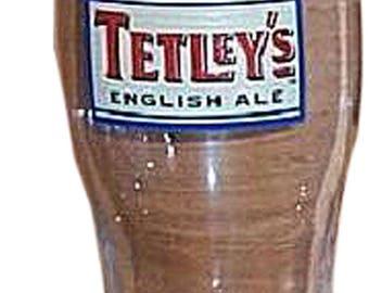 Vintage Tetley's English Ale Glass 20 oz.