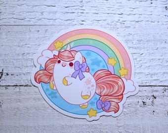Kawaii Rainbow Unicorn Nugget Sticker