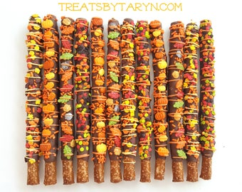 AUTUMN chocolate covered pretzels