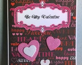 Valentine Card for Love Interest, Wife, Husband, Boyfriend, Girlfriend, Hand Made