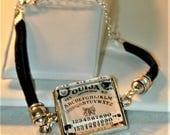 Goth Ouija Board Cord Bracelet #2