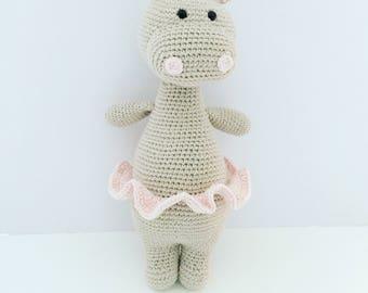 MADE TO ORDER Oda The Hippo Hippopotamus -Crochet Hippopotamus Amigurumi Hippo Baby Gift Baby Shower Gift Newborn Gift Handmade Gift
