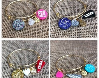 Customizable Adjustable Cheerleading Bracelet Cheer Jewelry
