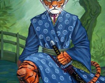Samurai Tiger - Digital Print