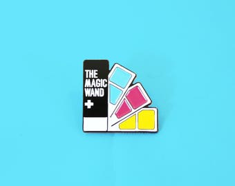 the magic wand pantone color swatch book soft enamel lapel pin cute funny - Pantone Color Swatch Book