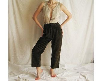 80s Olive Corduroy Pants XS