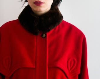 70s Red GUCCI Cashmere Coat
