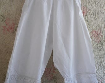 """Original Victorian bloomers, lace trimmed, Waist 27"""""""