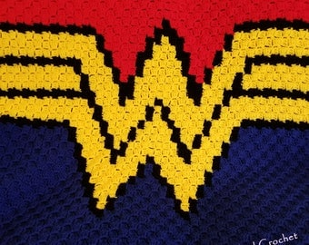 Wonder Woman Corner to Corner Crochet Blanket Pattern