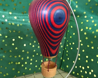 Handcrafted Wooden Hot Air Balloon Ornament