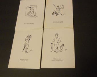 "Vintage W. Steig cards by ""bernad""-humorous"