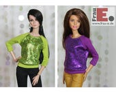 "Fashion Doll Sweater ""Snake Foil"""