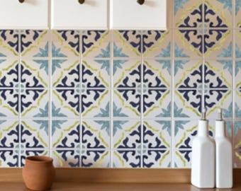 GIBRALTAR Tile Stencil - Mediterranean Spanish Moorish Wall Furniture Floor Craft Stencil - GIBR01