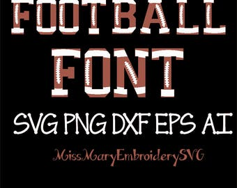 SVG Football Font & Numbers for Cutting Machines