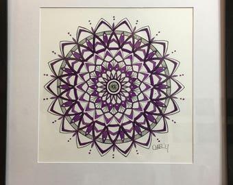 Purple Pulse Mandala