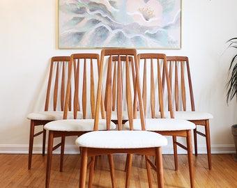 Mid Century Chairs Koefoeds Hornslet Eva Danish Dining Chairs Set of 6