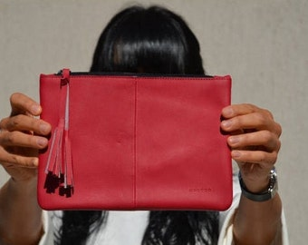 make up bags, leather cosmetic bag, bridesmaids clutch, bridesmaid clutch, bridesmaid clutches, Red leather clutch, bridesmaids clutches