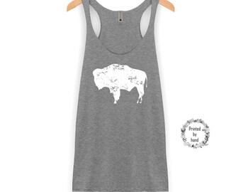 Bison Tank Top | Wyoming Tank Top - Buffalo Tank - Bison Shirt - Buffalo Shirt - Wyoming Shirt - Bridesmaid Tank Top - Bachelorette Party
