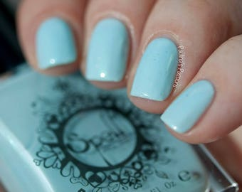 Under Her Veil Spell nail polish baby blue creme shimmer WEDDING!