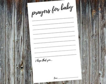 Prayers for Baby Cards / Baby Shower
