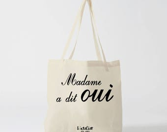 X471Y bag lady said yes, tote bag wedding, travel bag, cotton, Christmas tote bag, tote bag-school tote bag custom bag and Tote