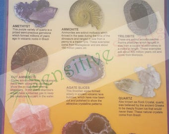 Rocks and Minerals A5 information chart